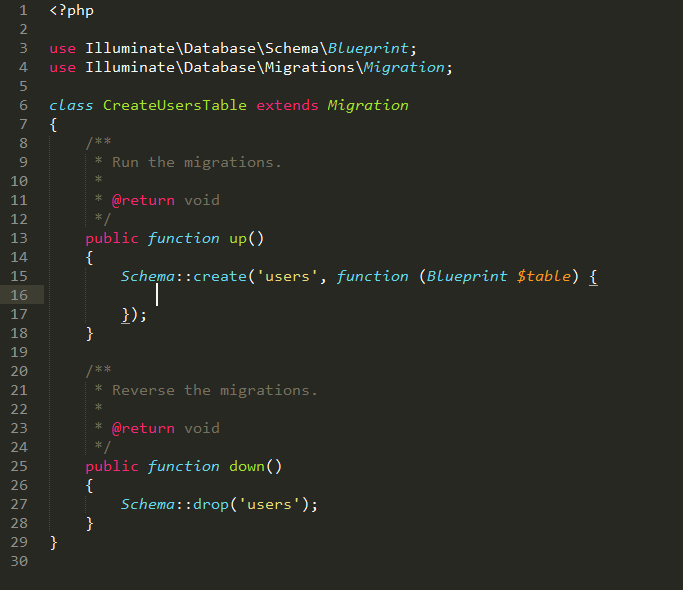 migration trong laravel